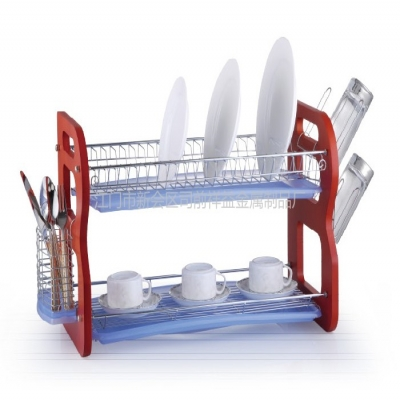 Stainless steel dish rack features